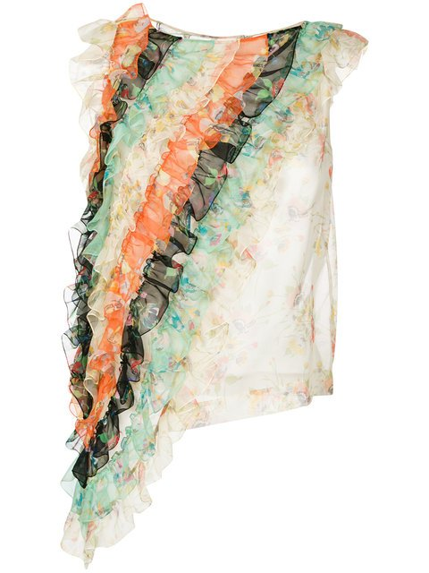 Christopher Kane Ruffle Archive Floral Top - Farfetch