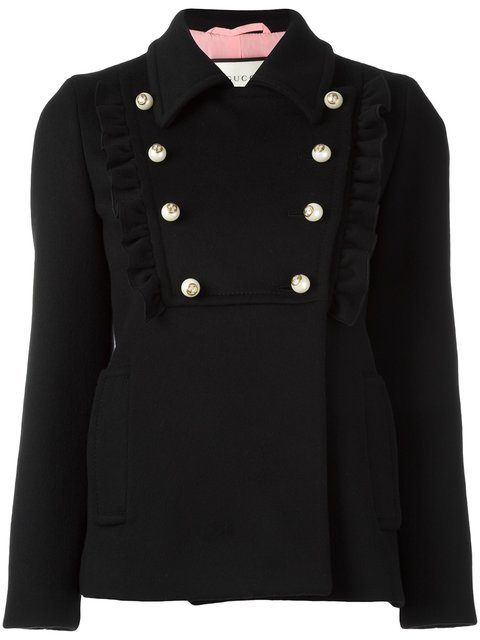 Gucci Ruffle Detail Jacket - Farfetch