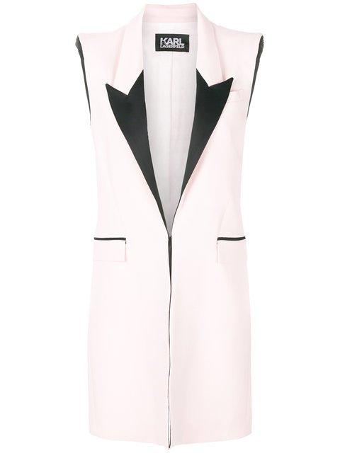 Karl Lagerfeld Mid-length Sleeveless Jacket  - Farfetch