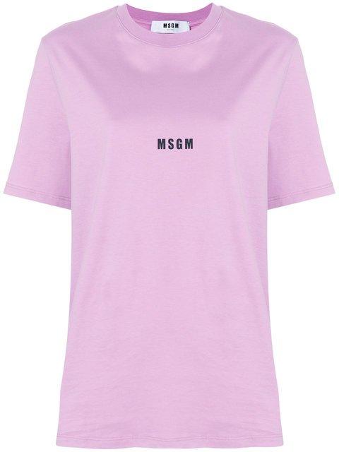 MSGM Logo Printed T-shirt - Farfetch
