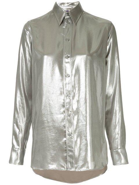Ralph Lauren Collection Longsleeved Metallic Shirt - Farfetch