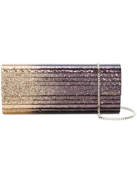 Jimmy Choo Sweetie Glittered Clutch - Farfetch