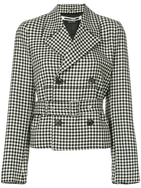 McQ Alexander McQueen Belted Check Jacket - Farfetch