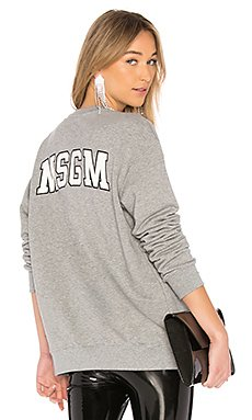 Back Logo Sweatshirt                                             MSGM