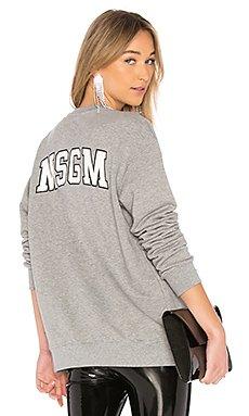 Back Logo Sweatshirt                                             MSGM