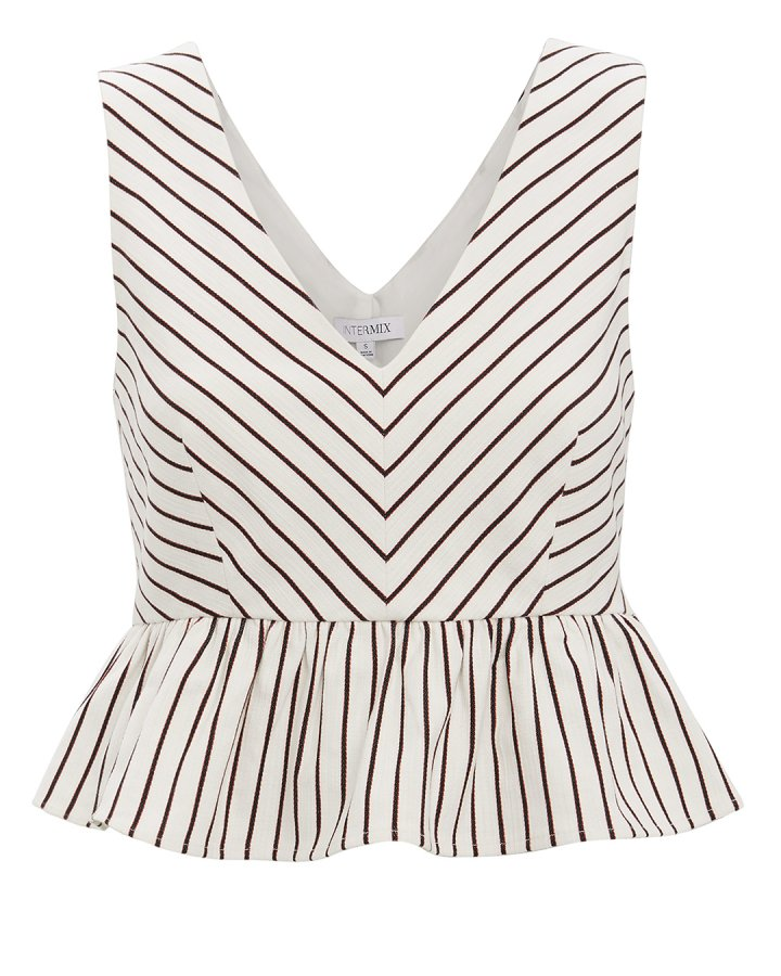 Lenny Striped Peplum Top