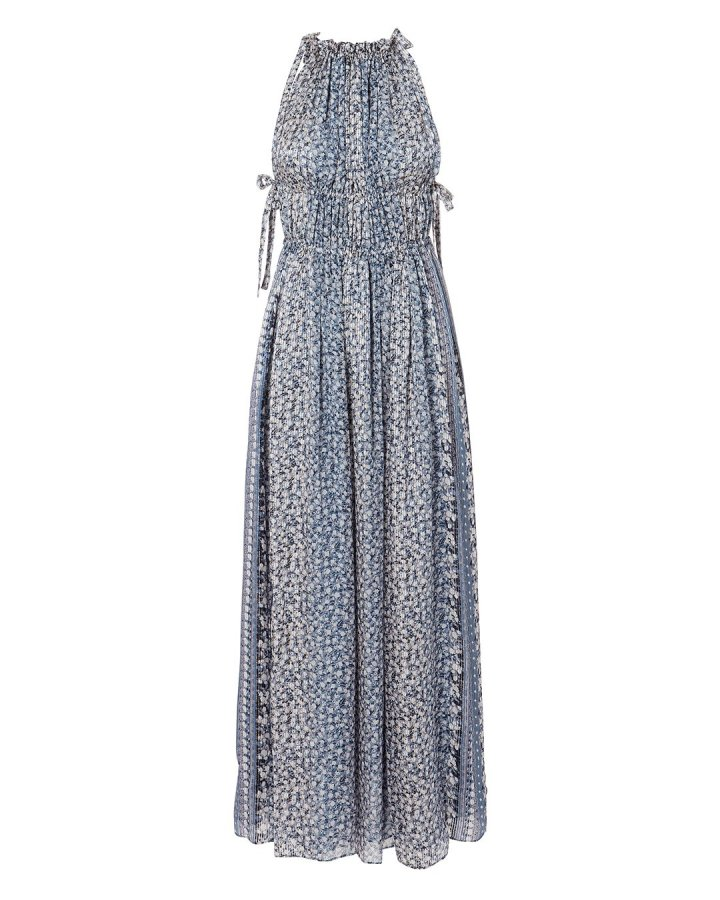 Augustine Pleated Maxi Dress