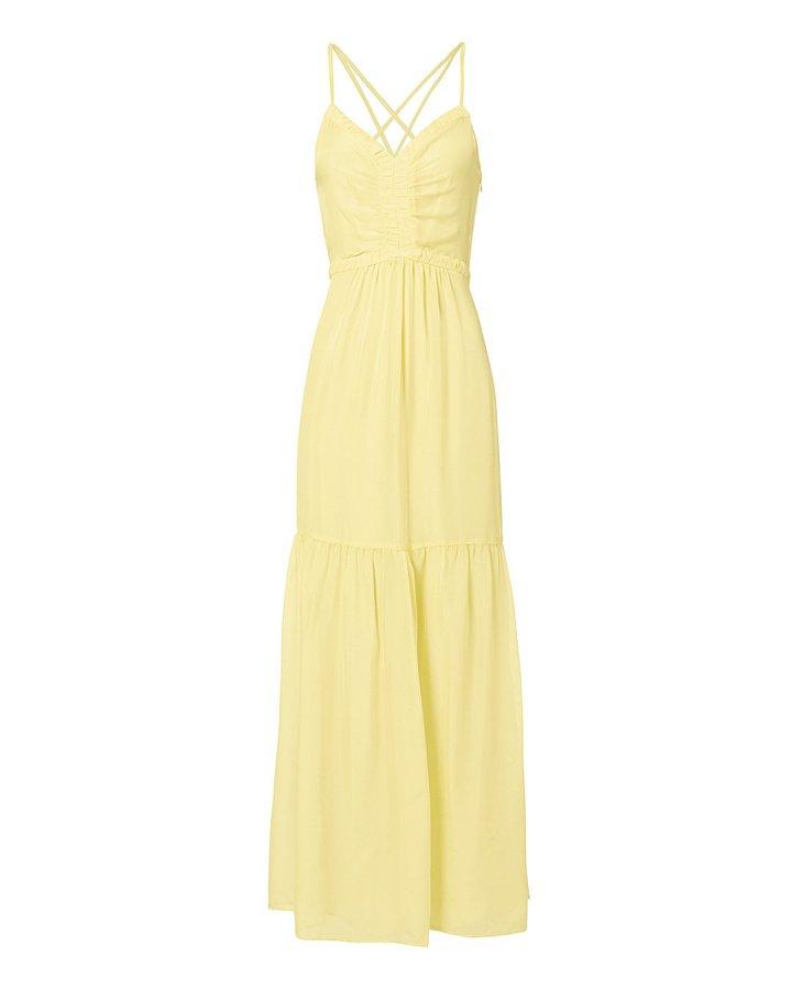 Chelsea Yellow Chiffon Maxi Dress