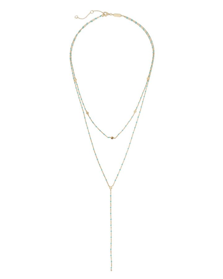 Beaded Lariat Layering Necklace
