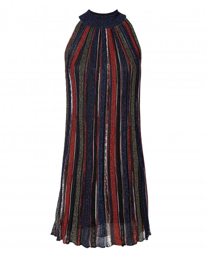 Lurex Striped Mini Dress