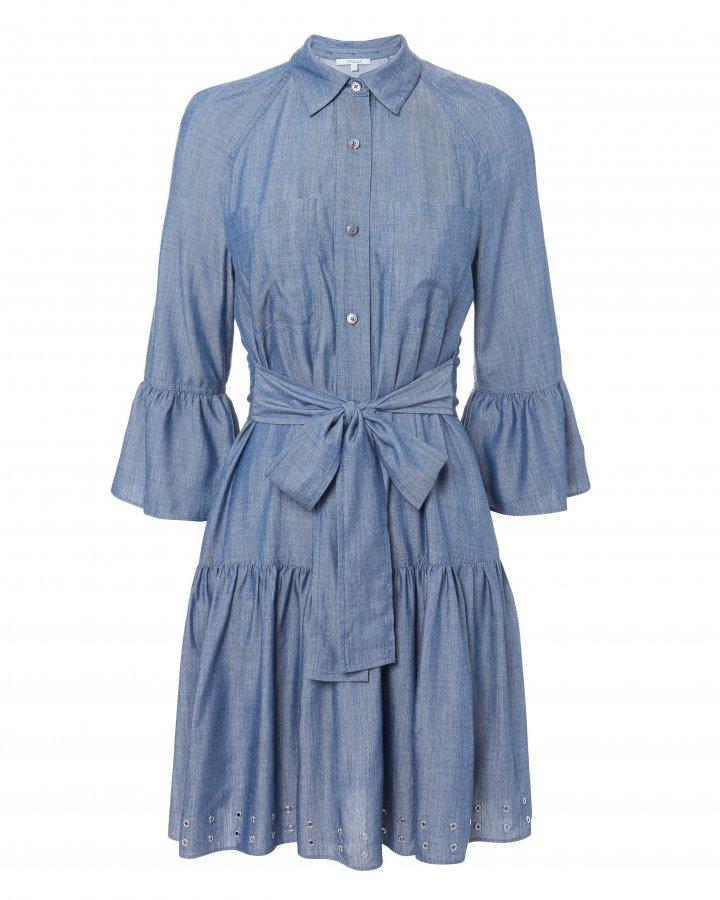 Grommet Denim Dress