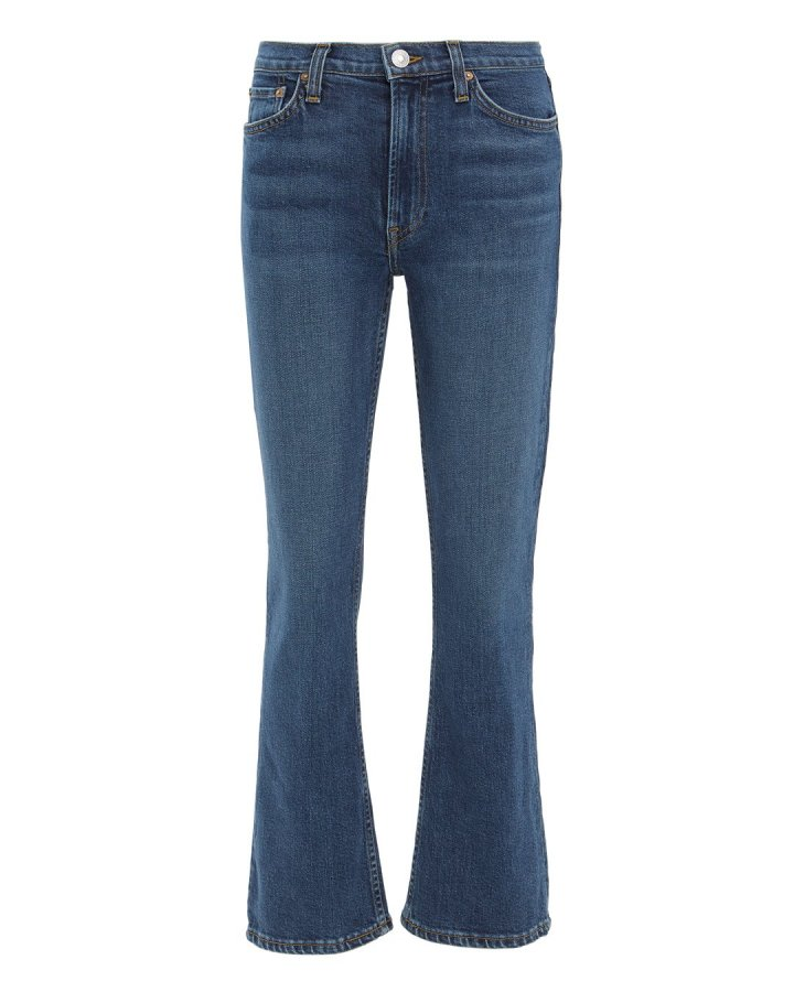 Comfort Stretch Kick Flare Crop Jeans