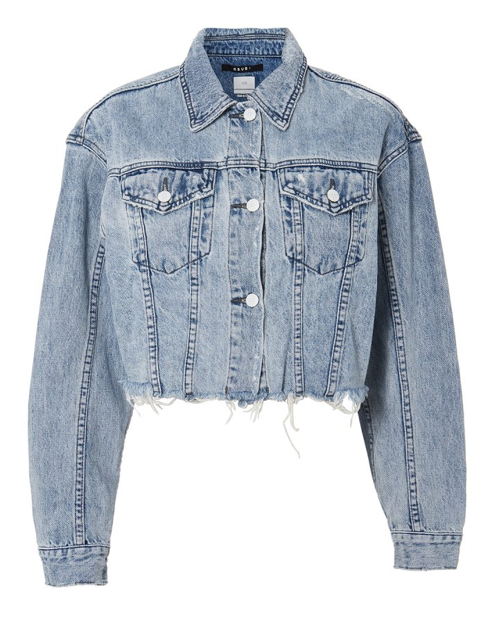 Daggerz Crop Denim Jacket
