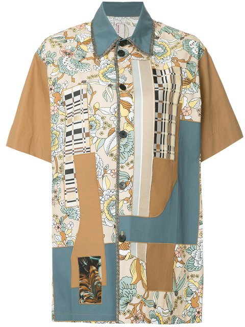 Antonio Marras Patchwork Short Sleeve Shirt - Farfetch