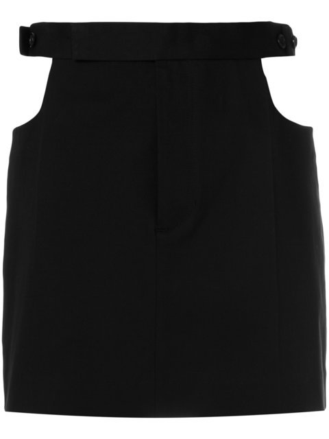 Helmut Lang Cut Out Skirt - Farfetch