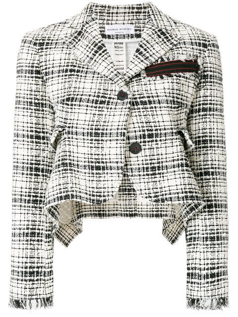 Sonia Rykiel Cropped Tweed Jacket  - Farfetch