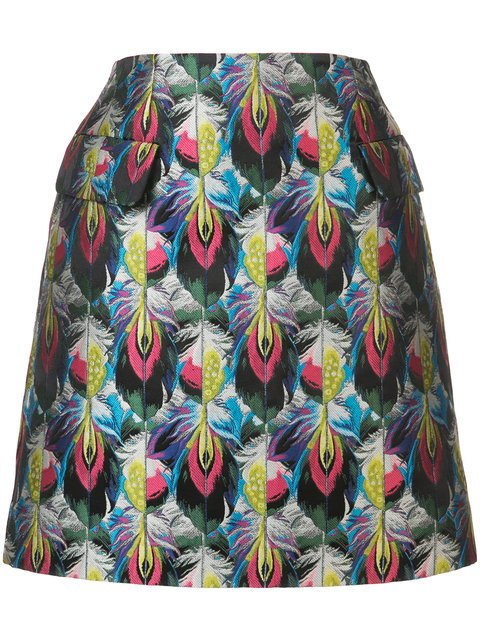 Mary Katrantzou Clovis Jacquard Skirt - Farfetch