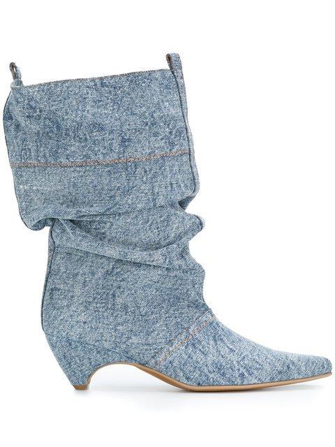 Stella McCartney Denim Boots - Farfetch