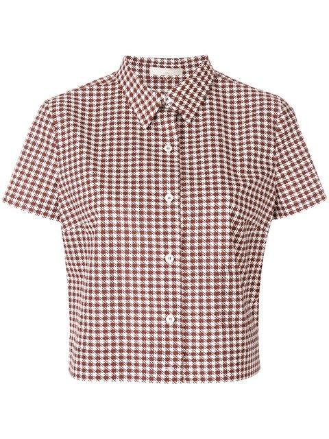 Mantu Houndstooth Shirt - Farfetch