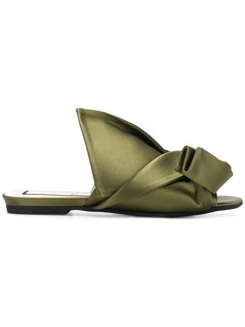 Nº21 Abstract Bow Mules - Farfetch