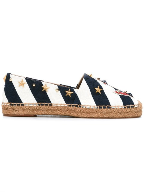 Dolce & Gabbana Anchor Striped Espadrilles - Farfetch