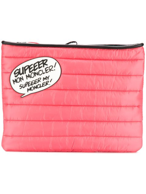 Moncler Speech Bubble Quilted Clutch - Farfetch