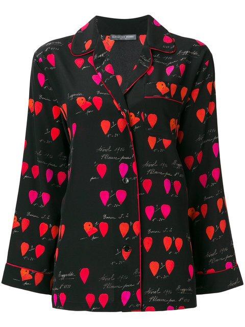 Alexander McQueen Petal Print Pyjama Shirt - Farfetch