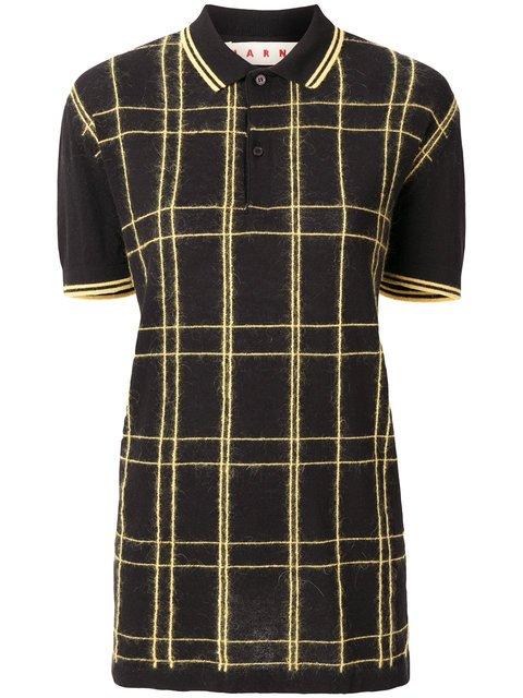 Marni Long Checked Polo Shirt - Farfetch