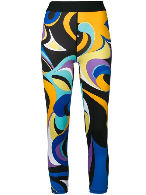 Emilio Pucci Abstract Print Leggings - Farfetch