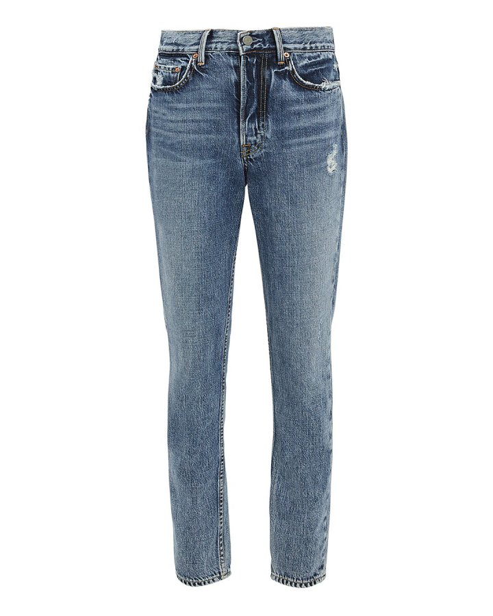 Karolina Distressed Cropped Jeans