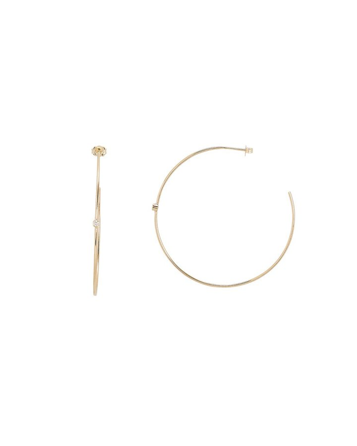 Bezet Set Diamond Accent Hoops
