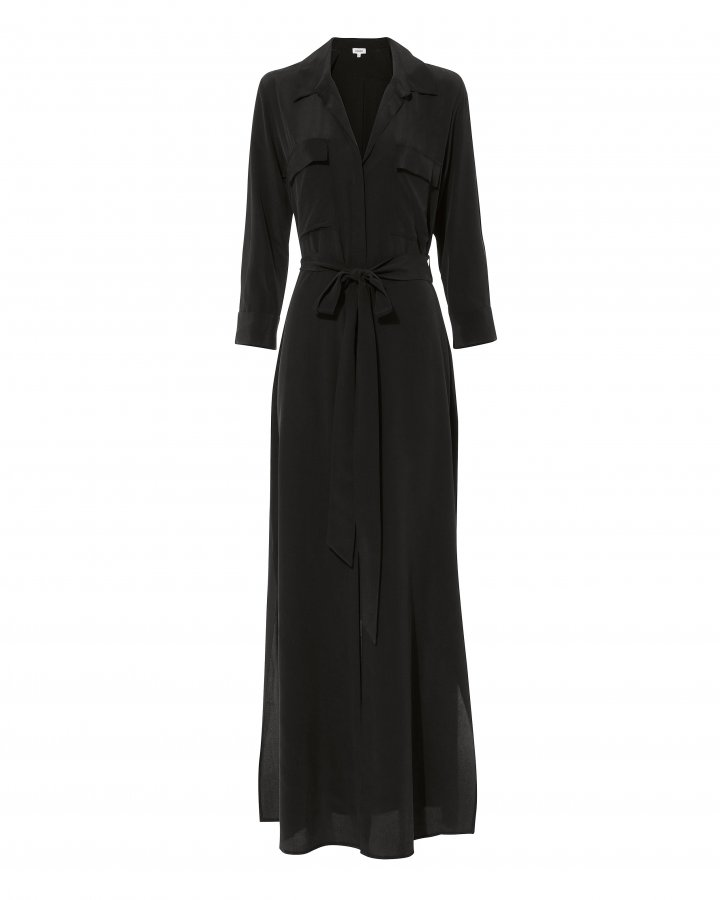 Cameron Black Shirtdress