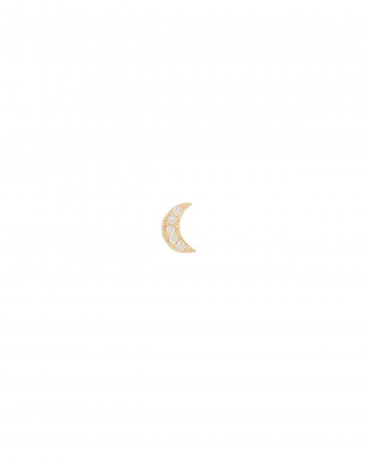 Itty Bitty Diamond Moon Single Earring