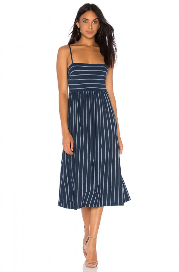 Twist Back Midi Dress
