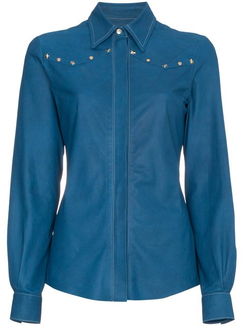 Skiim Leather Shirt With Studs - Farfetch