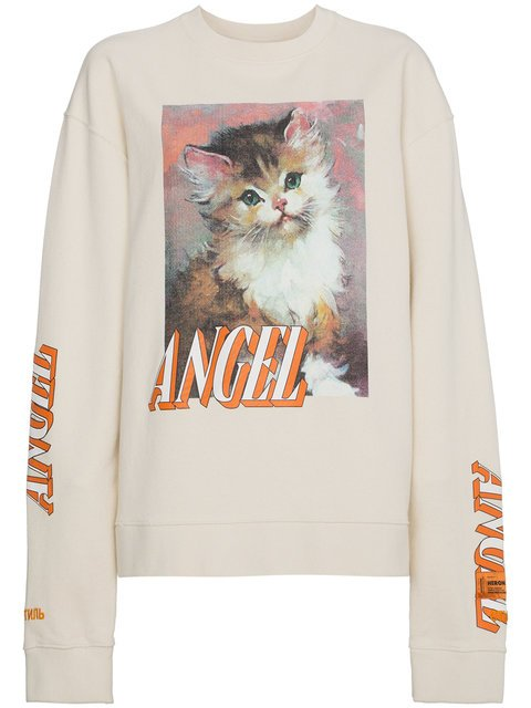 Heron Preston Sweatshirt With Kitten Print - Farfetch