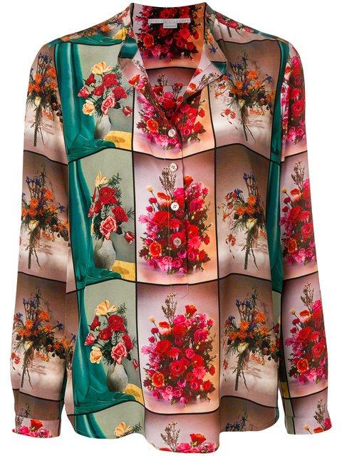 Stella McCartney Open Collar Floral Shirt - Farfetch