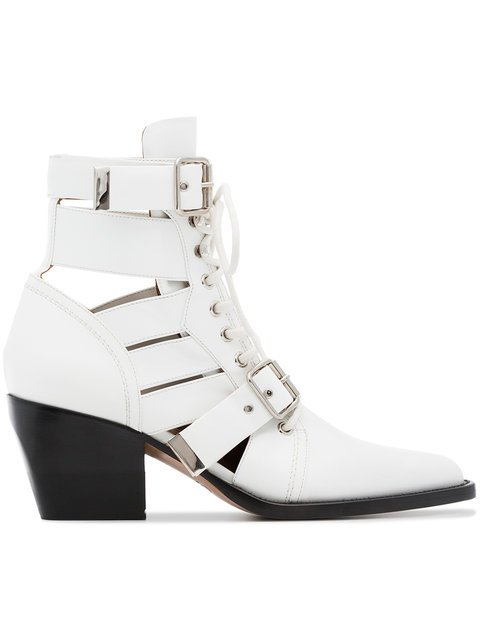 Chloé White Rylee 60 Medium Leather Boots - Farfetch