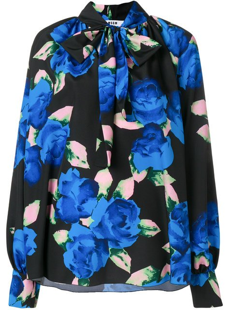 MSGM Loose Fit Floral Blouse - Farfetch