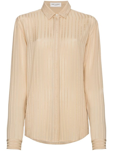 Saint Laurent Silk Striped Shirt - Farfetch