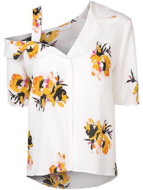 A.L.C. Asymmetric Floral Print Shirt - Farfetch