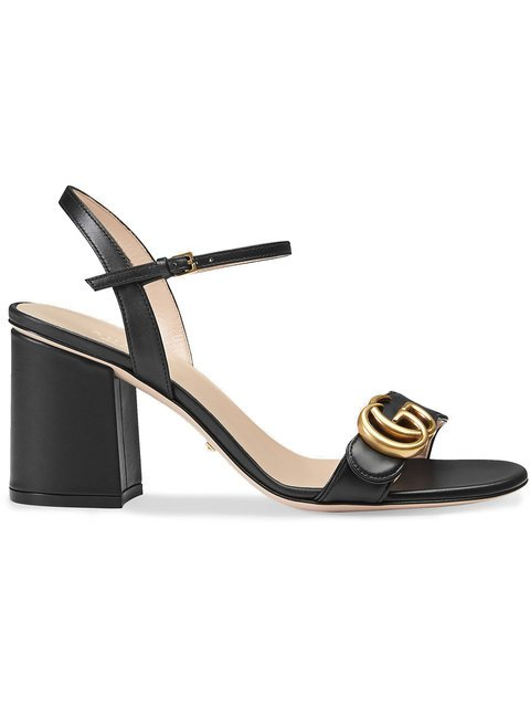 Gucci Leather Mid-heel Sandal - Farfetch