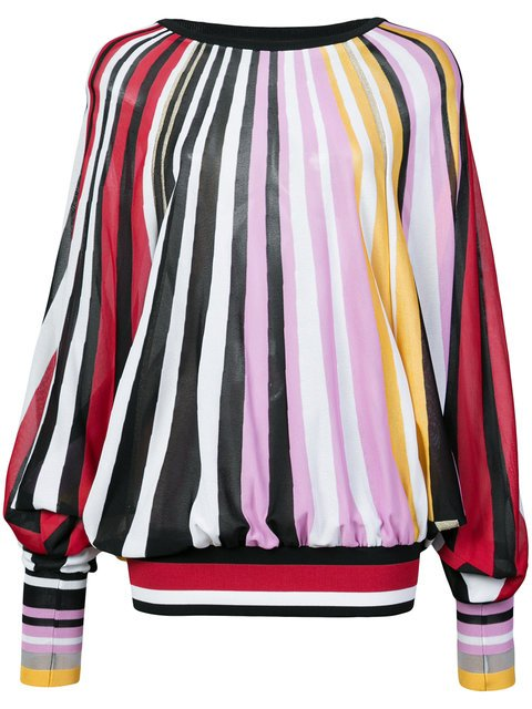 Carolina Herrera Striped Loose Blouse - Farfetch