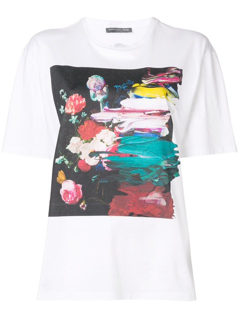 Alexander McQueen Floral Painting Printed T-shirt - Farfetch