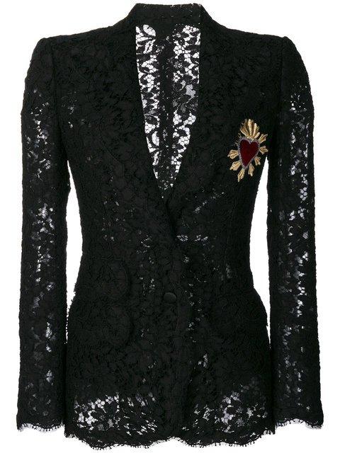 Dolce & Gabbana Sacred Heart Lace Blazer - Farfetch