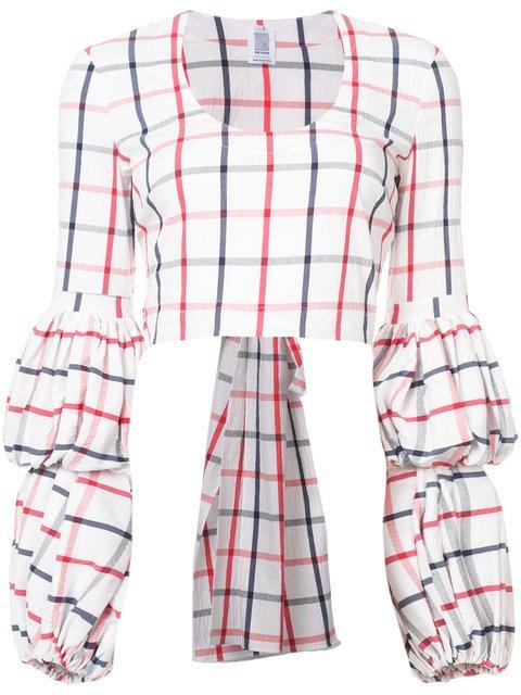Rosie Assoulin Puff Sleeve Wrap Blouse - Farfetch