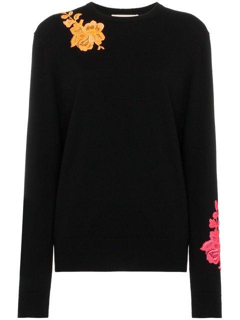 Christopher Kane Long Sleeve Embellished Cashmere Top - Farfetch