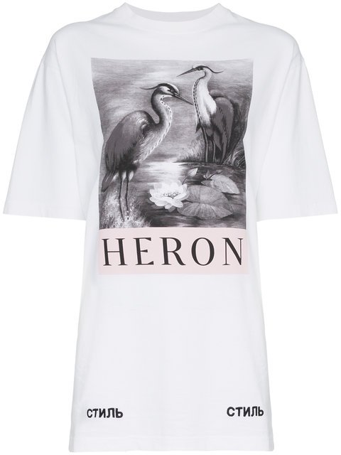 Heron Preston Heron Print T-shirt - Farfetch