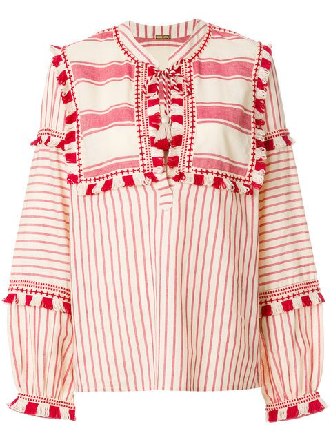 Dodo Bar Or Stripe And Tassel Detailed Blouse - Farfetch