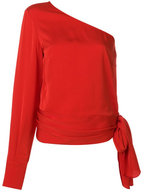 Stella McCartney One Shoulder Cady Blouse - Farfetch